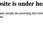 This website is under heavy load や503のサーバーエラーメッセージ